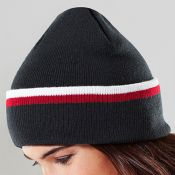 Sutton Valence Beanie - Black/Red/White